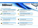 Bild: SSDmax! präsentiert sich als Universallösung für moderne Festplatten.