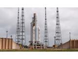 Bild: Der Start der Ariane 5 wurde wegen einer Unregelmäßigkeit im Hauptantrieb abgebrochen.
