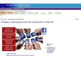 Bild: Themenportal der EU zu den Roaming-Preisen innerhalb Europas.