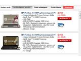 Bild: Verwirrend: Gleicher Preis, gleicher Prozessor, gleicher Arbeitsspeicher, nur das Design ist verschieden. Notebooks im Onlineshop von HP.