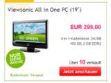 Bild: Der Viewsonic All-in-One-PC läuft mit einem Intel Atom und Windows 7.
