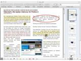 Bild: Das Vorschau-Programm bietet zahlreiche Funktionen zur PDF-Bearbeitung.