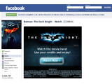 Bild: Warner Brothers bietet in den USA Filme direkt über Facebook zum Verleih an.