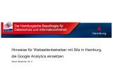 Bild: Webseitenbetreiber mit Sitz in Hamburg sind künftig für den datenschutzgerechten Gebrauch von Google Analytics verantwortlich