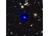 Bild: Am weitesten entfernte Galaxie: Rund 13,2 Milliarde Jahre war das Licht des Himmelskörper unterwegs.
