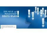 Bild: Zur Weltpremiere des VW up! bietet der Autohersteller kostenlose WLAN-Zugänge an.