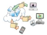 Bild: Wichtige Dateien können dank Dropbox in einem virtuellen Ordner gespeichert werden.