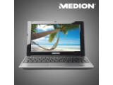 Bild: Das zehn Zoll große Netbook von Medion bietet unter anderem einen USB 3.0-Anschluss.