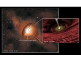 Bild: In dem Zentrum von weit entfernten Galaxien konnten Wissenschaftler schwarze Löcher nachweisen.
