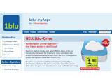 Bild: 1blu bietet ab sofort eine eigene Online-Festplatte an.
