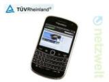 Bild: Die aktuellen BlackBerry-Modelle dürfen sich künftig mit dem Siegel des TÜV Rheinland schmücken.