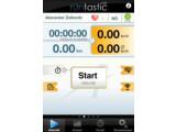 Bild: App Runtastic: Tempo, Durchschnittsgeschwindigkeit auf einen Blick.