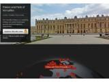 Bild: Vom Bildschirm aus lassen sich 132 UNESCO-Weltkulturerbestätten besuchen, wie etwa das Schloss von Versailles.