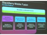 Bild: Mit BlackBerry Mobile Fusion präsentiert RIM eine Management-Software nicht nur für BlackBerry-Geräte, sondern auch für iOS- und Android-Smartphones und -Tablets.