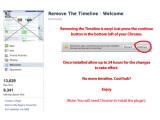 Bild: Cyberkriminelle werben mit Möglichkeiten die Facebook-Chronik zu deaktivieren.