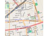 Bild: In diesem Bereich von New York wurde die Darstellung Einbahnstraßen manipuliert