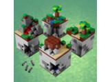 Bild: Bei der ersten Lego-Bausatz von Mincraft können die vier Modelle miteinander verbunden werden.