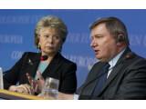 Bild: EU-Kommissarin Viviane Reding stellte heute den Entwurf der neuen EU-Datenschutzverordnung vor.