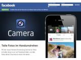 Bild: Facebook bewirbt seine Kamera-App auf einer eigenen Unterseite.