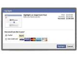 Bild: Facebook bietet einigen Nutzern testweise die Option an für besser sichtbare Updates zwei US-Dollar zu zahlen.