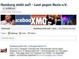 """Bild: Facebook unterstützt """"""""Internationale Wochen gegen Rassismus"""" und """"Hamburg steht auf!""""."""