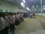 Bild: Foxconn-Arbeiter streikten am Freitag (5. Oktober) zu tausenden.