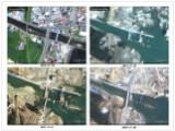 Bild: Auf der hier gezeigten Bilderserie ist eine Brücke in Minami Sanriku Town, Miyagi, zu sehen.