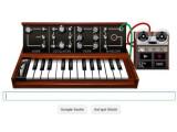 Bild: Der Google Doodle erinnert an den 78. Geburtstag von Robert Moog, einem Pionier der elektronischen Musik.