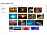 Bild: Google schlägt einige Hintergrunnddesigns vor, aber diese können auch völlig frei gewählt werden.