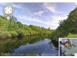 Bild: Google Street View lädt zu einer Reise auf einem Zufluss des Amazonas ein.