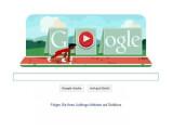 Bild: Googles aktuelles Olympia-Doodle: Hürdenlauf im Browser.