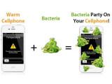 Bild: Handys sind durch ihre Wärme regelrechte Bakterienbrutstätten.