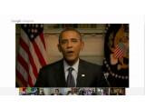 Bild: Der Hangout mit Obama lief nicht ohne technische Schwierigkeiten ab.