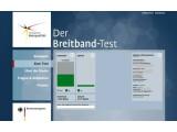"""Bild: Die Homepage der """"Initiative Netzqualität"""". Damit testet die Bundesnetzagentur die Dienstqualität von Internetzugängen in Deutschland."""