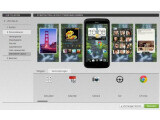 Bild: Mit HTC Get Started lässt sich das Smartphone vorab komplett konfigurieren - sogar Widgets und App-Verknüpfung kann der Nutzer vorab auf den Startbildschirmen platzieren.