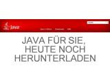 Bild: Für Java kann ein Update heruntergeladen werden.