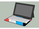 Bild: Microsoft Surface: Vor allem durch die ansteckbare Tastatur, die es in unterschiedlichen Farben geben wird, will Microsoft beim Tablet-Publikum punkten.