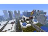 Bild: In Minecraft können auch ganze Städte gebaut werden.