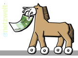 Bild: Mittels eines Smartphone-Trojaners haben Cyberkriminelle 36 Millionen Euro erbeutet.