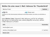 Bild: Mozilla Thunderbird 10 bietet an, ein E-Mail-Konto direkt beim ersten Start zu erstellen.