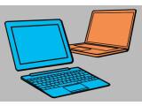 Bild: Es muss nicht immer das Notebook sein: Für manche Anwender erfüllt ein Tablet-PC mit ansteckbarer Tastatur den Zweck viel besser.