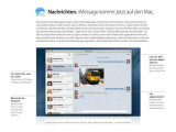 Bild: Nachrichten-App Messages: Ab Mitte Dezember wird die Software für Lion-Nutzer deaktiviert.