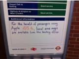 Bild: Der Nahverkehr in London empfiehlt Apple Maps-Nutzern gleich den Umstieg auf einen Stadtplan.