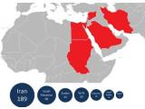 Bild: Der neu entdeckte Spionage-Wurm Flame wurde unter anderem im Iran, Israel und Palästina und weiteren Ländern des Nahen Ostens entdeckt.