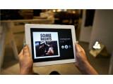 Bild: Die neue iPad-App von Spotify bietet hochauflösende Cover-Bilder im Vollbild-Modus.