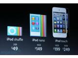 Bild: Die neue iPod-Familie von Apple.