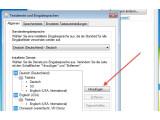 Bild: Neue Tastaturlayouts können in der Systemsteuerung hinzugefügt werden.