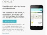 Bild: Das Nexus 4 ist ab sofort wieder in Deutschland erhältlich.