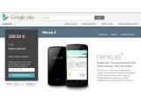 Bild: Das Nexus 4 ist im Play Store schon wieder vergriffen.