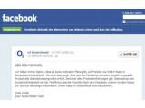 Bild: O2 teilte auch per Facebook mit, das umstrittene Programm Smart Steps in Deutschland nicht zu starten.